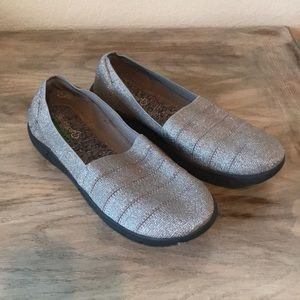 Sparkly Silver Memory Foam Shoes